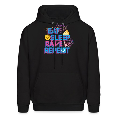 Eat Sleep Rave & Repeat Men's Hoodie - Men's Hoodie