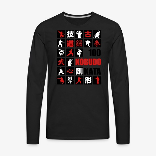100 Kobudo Kata Mosaic 1 - Men's Premium Long Sleeve T-Shirt