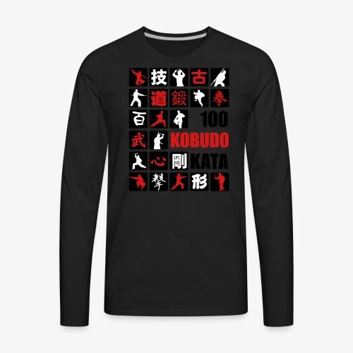 100 Kobudo Kata Mosaic 1 - Men's Premium Long Sleeve T-Shirt