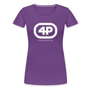 4Player Retro Logo (Solid White) - Women's T Shirt - Women's Premium T-Shirt
