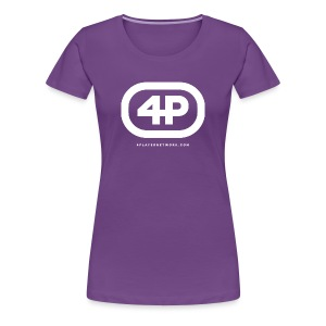 4Player Retro Logo (Solid White) - Women's T Shirt - Women's Premium T-Shirt