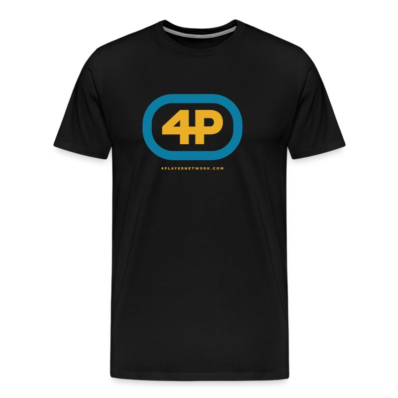 4Player Retro Logo (Color) - Men's T Shirt - Men's Premium T-Shirt