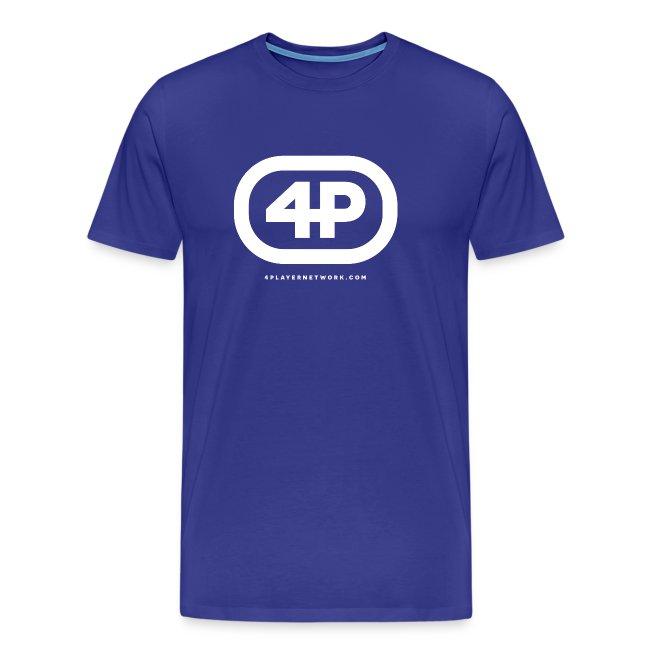 4Player Retro Logo (Solid White) - Men's T Shirt