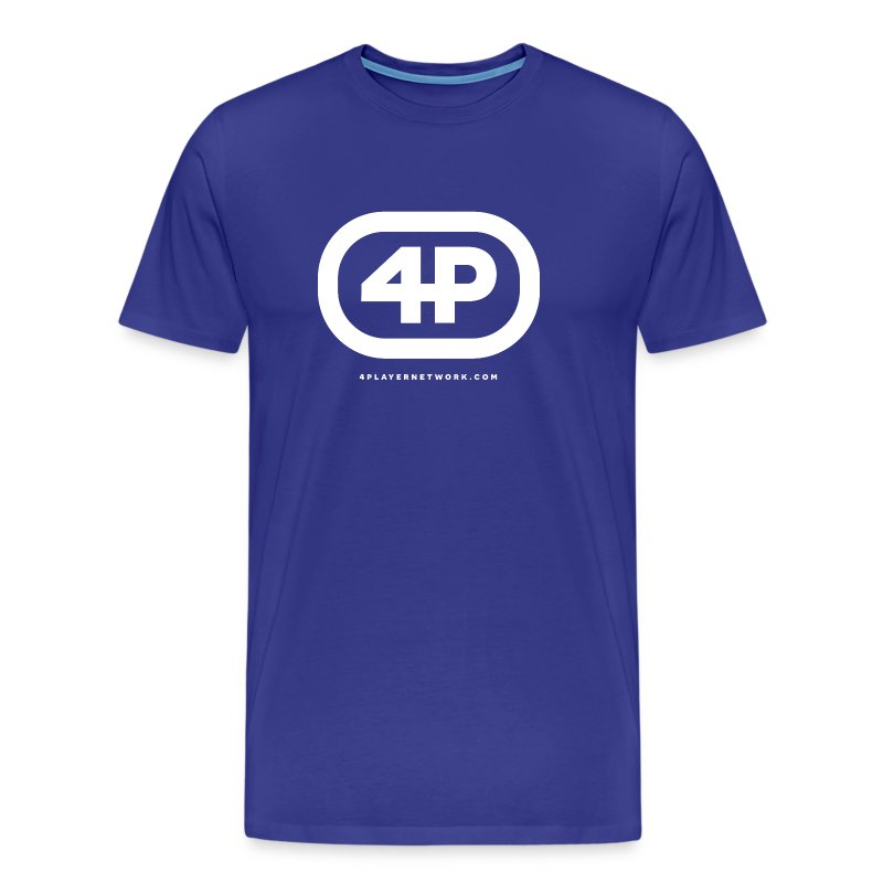 4Player Retro Logo (Solid White) - Men's T Shirt - Men's Premium T-Shirt