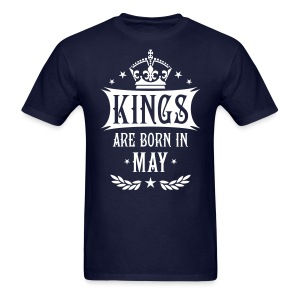 Kings are born in May King Birthday Gift Vintage T-Shirt - Men's T-Shirt