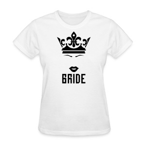 Bride Crown kissing Lips Mouth luxury Party T-Shirt - Women's T-Shirt