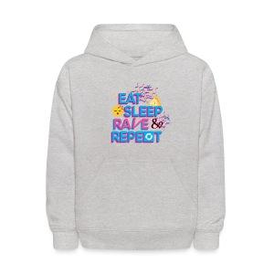 Eat Sleep Rave & Repeat Kids Hoodie - Kids' Hoodie