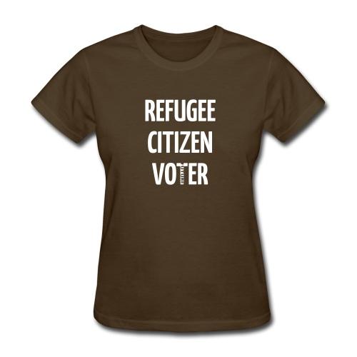 REFUGEE FUTURE VOTER WOMEN'S T-SHIRT - Women's T-Shirt