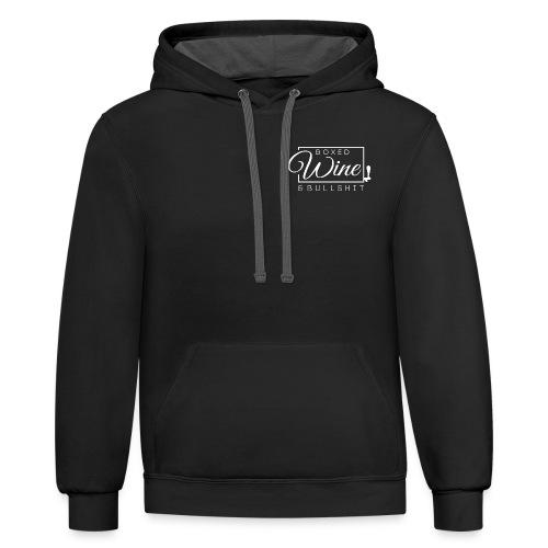 Logo two-tone hoodie - Contrast Hoodie
