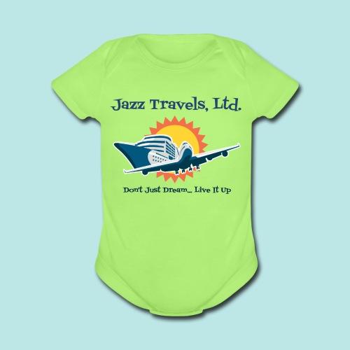 Baby's Unisex Jazz Travels, Ltd. Lightweight T-Shirt - Organic Short Sleeve Baby Bodysuit