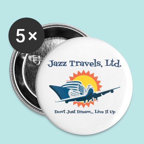 Jazz Travels, Ltd. Small Pin Buttons - Small Buttons