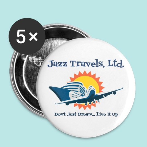 Jazz Travels, Ltd. Large Pin Buttons - Large Buttons