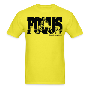 Focus Training (Yellow) - Men's T-Shirt