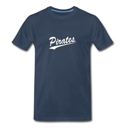 Pirates Cursive Smooth Print - Men's Premium T-Shirt