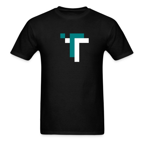 TT - TEAL ON BLACK - Men's T-Shirt