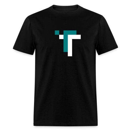 TT - TEAL ON BLACK - Men's T-Shirt