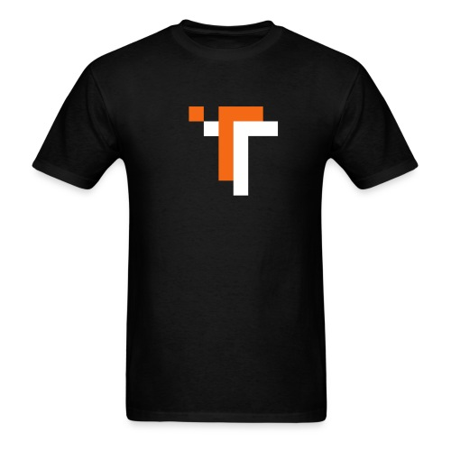 TT - ORANGE ON BLACK - Men's T-Shirt
