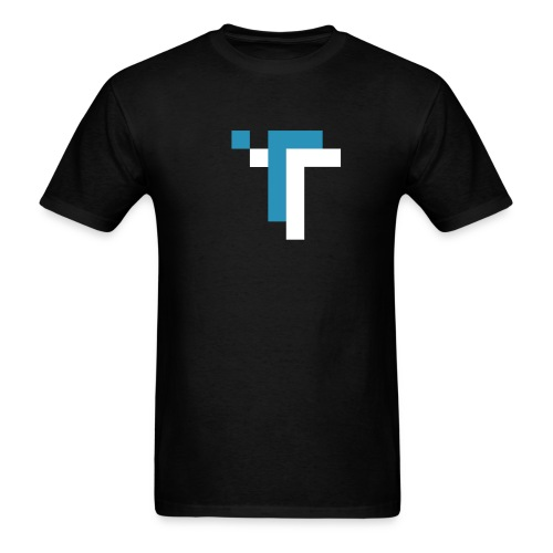 TT - BLUE ON BLACK - Men's T-Shirt