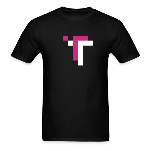 TT - MAGENTA ON BLACK - Men's T-Shirt