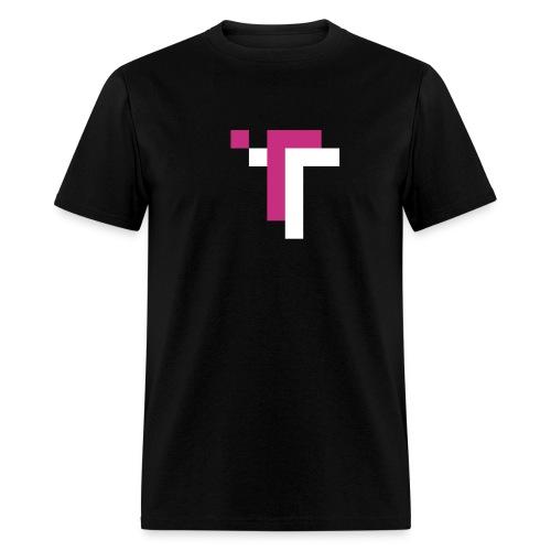 TT - MAGENTA ON BLACK - Men's T-Shirt