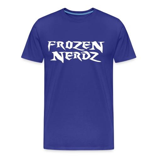 White Frozen Nerdz Logo T-Shirt (Men's) - Men's Premium T-Shirt