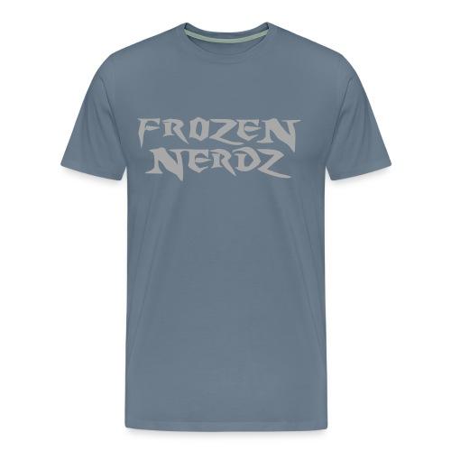 Glittery Frozen Nerdz Logo T-Shirt (Men's) - Men's Premium T-Shirt