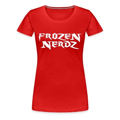 White Frozen Nerdz Logo T-Shirt (Women's) - Women's Premium T-Shirt