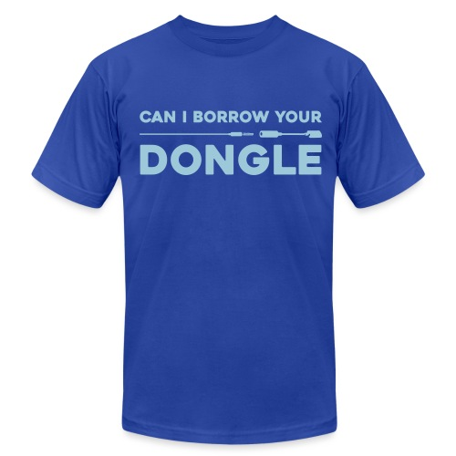 dongle - Men's T-Shirt by American Apparel