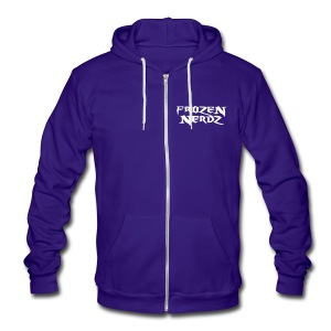 Frozen Nerdz Zip-Up Hoodie (Unisex) - Unisex Fleece Zip Hoodie by American Apparel