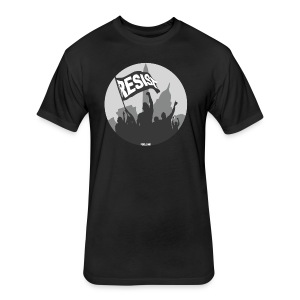 Men's Resist Banner BW - Fitted Cotton/Poly T-Shirt by Next Level