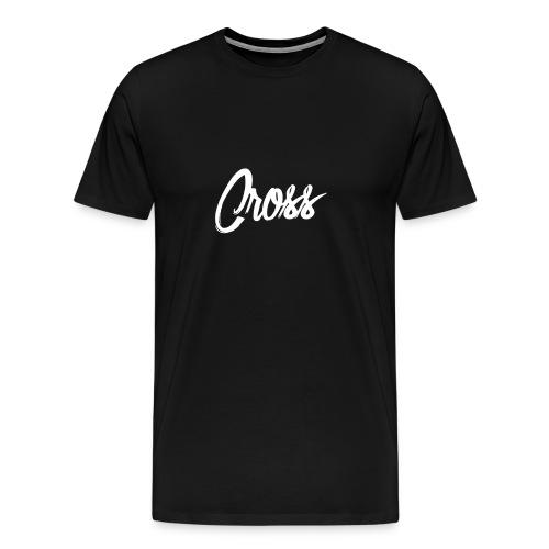 Black Cross Signature Shirt  - Men's Premium T-Shirt