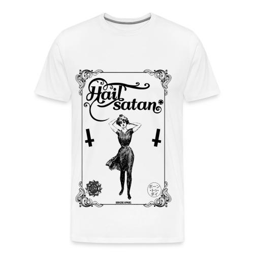 Playing Card Hail Satan - Men's Premium T-Shirt