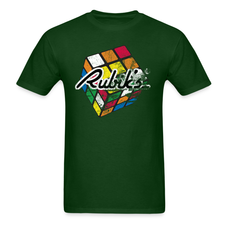 Rubik's Cube Distressed and Faded - Men's T-Shirt