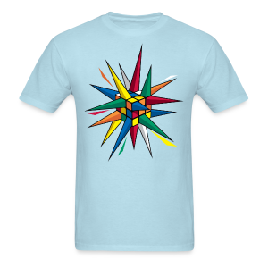 Rubik's Cube Multicolor Spikes - Men's T-Shirt