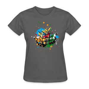 Rubik's Cube Colour Splatters - Women's T-Shirt