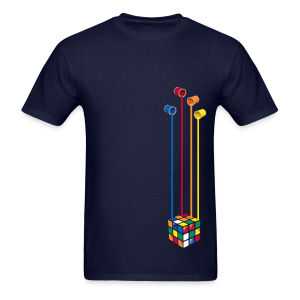 Rubik's Cube Colourful Paint Buckets - Men's T-Shirt