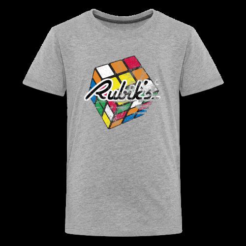 Rubik's Cube Distressed and Faded - Kids' Premium T-Shirt