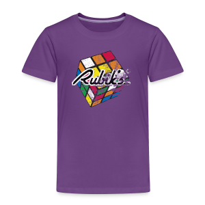 Rubik's Cube Distressed and Faded - Toddler Premium T-Shirt