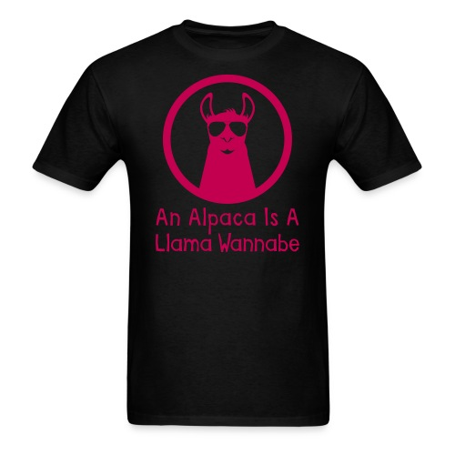 An Alpaca Is A Llama Wannabe (Adult) - Men's T-Shirt