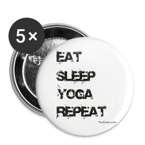 Eat Sleep Yoga Repeat Button (5 Pack) - Large Buttons