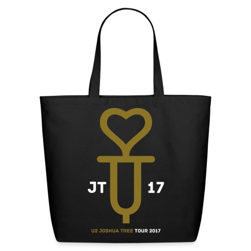 U+2=LOVE - front print gold/white - one size - multi colors - Eco-Friendly Cotton Tote