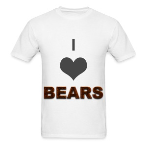 I heart BEARS - Men's T-Shirt
