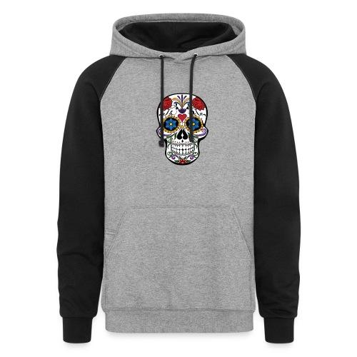 Sugar Skull Hoody - Colorblock Hoodie