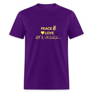 Peace Love Got A Ukulele - Men's T-Shirt