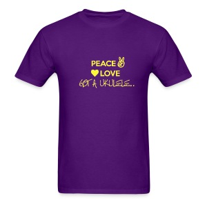Peace Love Got A Ukulele - Men's T-Shirt