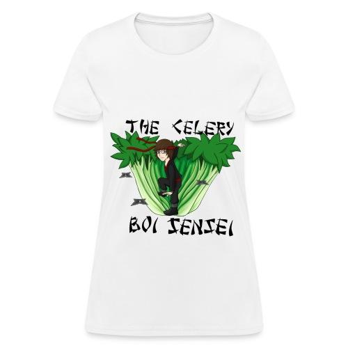Womens Celery Boi Sensei  T-Shirt - Women's T-Shirt
