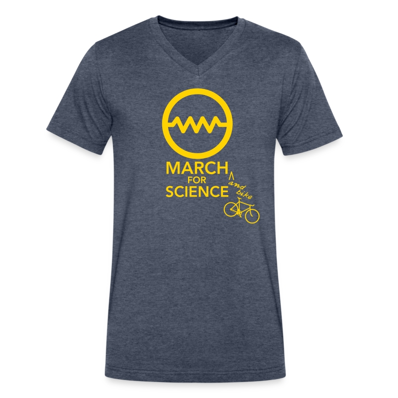 march_for_science_shirt-0 - Men's V-Neck T-Shirt by Canvas