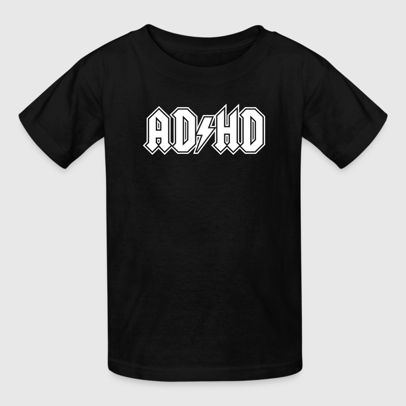ADHD AC/DC Logo - Funny Attention Deficit Disorder - Kids' T-Shirt