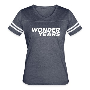 Womens Navy Wonder Years Tee - Women's Vintage Sport T-Shirt