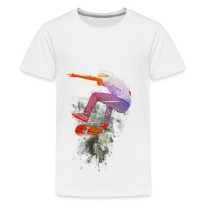 Skating over the city - Kids' Premium T-Shirt